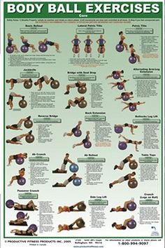 Oh the Body ball! In home muscle exercise!