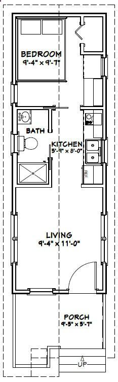 10x30 Tiny House    #10X30H1A    300 Sq Ft   Excellent Floor Plans