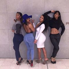 How much fun can your squad do? Show us your squad and we will tell you how much fun you can do,… Swagg Girl, Girl Swag, Go Best Friend, Best Friend Goals, Bff Goals, Squad Goals, Black Girls Rock, Beautiful Black Women, Beautiful Images