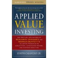 http://baotoanvon.com/books/0071628185.isbn Applied Value Investing: The Practical Application of Benjamin Graham and Warren Buffett , finance , investing , investment book , stock market , value , value investing  Since Benjamin Graham fathered value investing in the 1930s, the method of analysis has spawned a large number of highly successful investors, such as Graham's own former student and employee, Warren Buffett, who is regarded as one of the most successful investors of modern…