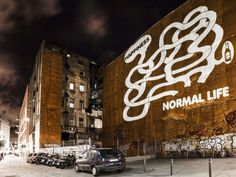 Une projection de street-art à Barcelone