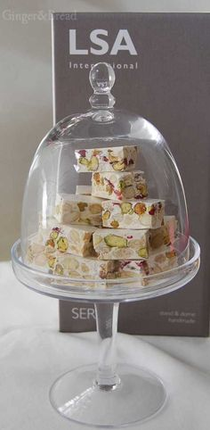 LSA International cake stand and dome