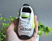 Crochet baby sneakers - crochet shoes -baby Nike - unique gift -baby shower - red gray -crochet baby shoes - Nike air