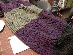 Loom knitting patterm Diane's Diamonds & twist Lap Blanket Loom Knitting