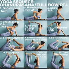 "YOGA SEQUENCE: Padangusthasana/Purna Dhanurasana Full Bow Pose _ T.O.C Please practice from slide 2-7 in order 1. Video demo of final seq 2. Back bend warm up 3. Back bend SS 4. Sequence to King Pigeon 2 5. """" to Full bow Pt1 6. """" to Full bow Pt2 7. Counter & cool down _ Practice/ 60-90mins _ I know that this seems like A LOT & it is. BUT Full bow pose is FULL on & is a pose I save for my more intermediate/advanced classes It requires loads of strength, flexibility, awareness, indepen..."