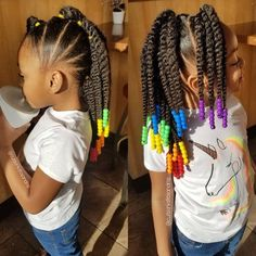 Girl hairstyles 326440672994416947 - The perfect protective style👌🏾 How adorable is this braided mohawk on 💕 Doesn't she look cute😍 Source by VoiceOfHair Toddler Braided Hairstyles, Toddler Braids, Kids Curly Hairstyles, Natural Hairstyles For Kids, Braids For Kids, Natural Hair Styles, Black Baby Girl Hairstyles, Kid Braids, Girl Hair Braids