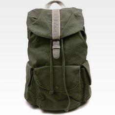 Vintage Mens Military Casual Canvas Backpack Bookbag Rucksack Hiking Bag  Satchel  27c15b97e29c4