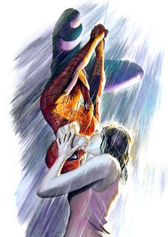 Spidey & MJ Kiss - Alex Ross
