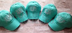 Monogrammed Baseball Hat for Ladies by RedElephantClothing on Etsy
