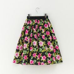 Women Midi Skirt 2018 Runway Vintage Rockabilly Skirts Womens Pinup 50S 60S  Cotton Pleated High Waist Pinup Saia Daily Skirts dfc23571ce7d