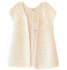 """Diy Crafts - Garter Yoke Vest Pattern (Knit) """"This post was discovered by Jul"""", """"Yarn and Patterns for Knitting and Crochet"""" Crochet Cardigan Pattern, Vest Pattern, Knit Patterns, Knit Crochet, Crochet Granny, Diy Crafts Knitting, Free Knitting, Baby Knitting, Knit Vest"""