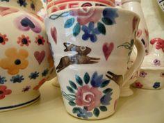 Bell Pottery Leaping Hare Half Pint Mug