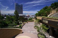 Amazing piece of architecture, Namba Parks in Osaka - Japan Photos) Namba Parks, Mixed Use Development, Osaka Japan, Terrace Garden, Shopping Mall, Pond, Skyscraper, Tower, Mansions