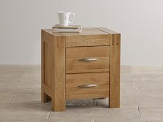 The Alto Solid Natural Oak Nightstand features finely waxed solid oak in its simplest form. Oak Furniture Land, Small Bedroom Furniture, Oak Bedroom, Acme Furniture, Furniture Covers, Solid Wood Furniture, Furniture Deals, Cool Furniture, Bedroom Ideas
