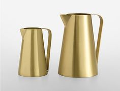 Gift It: @calvinklein Home Iconic Brushed Gold Pitcher #sp
