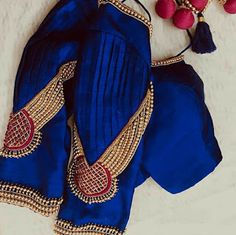 """""""When love and skill work together, expect a masterpiece. And there is definitely a lot of extra love for this AK… Kids Blouse Designs, Simple Blouse Designs, Stylish Blouse Design, Fancy Blouse Designs, Bridal Blouse Designs, Blouse Neck Designs, Hand Designs, Sleeve Designs, Lehenga"""