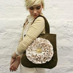 romantic white flower purse, beautiful
