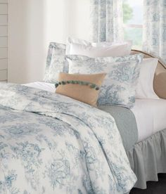 Pastoral French-country themes are elegantly played out on our Toile. We're pleased to offer it in so many styles for your home. (Country Curtains Lenoxdale Toile Duvet Cover. Available in Lagoon, Black, Blue, Dove and Sand.)