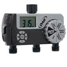 Orbit 3 Outlet Digital) Watering Timer Kit - for sale online Sprinkler, Digital Alarm Clock, Garden Hose, Justin Bieber, Faucet, Patio, Manual, Carpenter Bee, Garden Products