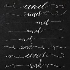 Chalkboard Curly Swirly Swashy AND Clipart by JubileeDigitalDesign, $5.00