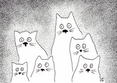 Whimsical cats.