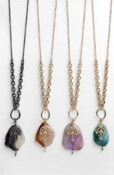 Sequin Agate Long Pendant Necklace (Nordstrom Exclusive) available at #Nordstrom by edna