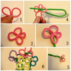 Easter Crafts: Pipe Cleaner Flowers and Bunnies - Family Food And Travel Pipe Cleaner Art, Pipe Cleaner Flowers, Pipe Cleaners, Diy For Kids, Crafts For Kids, Arts And Crafts, Family Crafts, Pom Pom Crafts, Flower Crafts