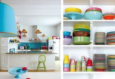 Love all this colour for the kitchen!!
