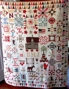1888 Schoolhouse crib quilt at the Sanibel Museum