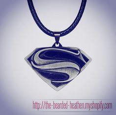 Superman Justice League Necklace - Man of Steel Pendant