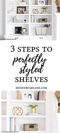 HOW TO STYLE BOOKSHELVES #organization #diy #diyprojects #bookshelves