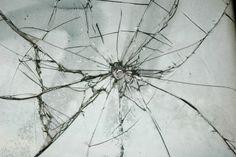 Broken Glass Window Bullet Shooting impact hole cracks