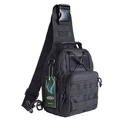 G4Free Outdoor Tactical Backpack,Military Sport Pack Daypack Shoulder Backpack for Camping, Hiking, Trekking,Rover Sling Pack Chest Pack Outdoor Store Product Description :  G4Free Tactical Sling Pack is the Very best Compact Solution for Organizing and Carrying your gear for Mountaineering, Camping, Hunting, attending Sports Events, School, or working Outdoors.  The Small, Versatile Military Style Tactical Backpack Design is Very best when Full Sized Packs are Too Large. Heavy on Utility…