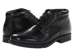 Rockport Essential Details Waterproof Dress Chukka (Black) Men's Lace-up Boots