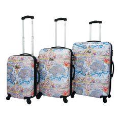 Free Shipping. Buy Chariot Orbis Terrarum Atlas 3-Piece Hardside TSA Lock Upright Spinner Luggage Set at Walmart.com