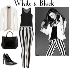 """White & Black"" by sediceporahi ❤ liked on Polyvore"