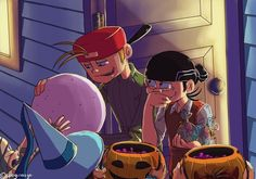 Happy Halloween I moat likely will post some halloween pics so forgive me. Ed And Eddy, Ed Edd N Eddy, Cute Couple Comics, Couple Cartoon, Old Cartoons, Classic Cartoons, Du Dudu E Edu, Old Cartoon Network, Kevedd