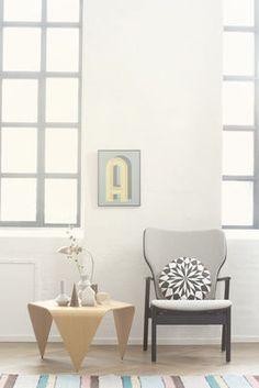 Star Round Cushion Light blue , black | Cushion Ferm Living