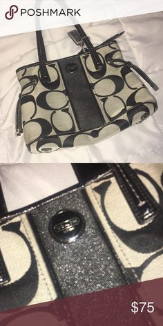 cde4a870c Coach hand bag Beige and black coach bag brand new Coach Bags Shoulder Bags