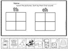 math worksheet : 1000 images about digraphs on pinterest  phonics blending  : Th Worksheets For Kindergarten
