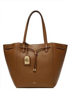903ae0b9cf Lauren Ralph Lauren Leather Oxford Tote