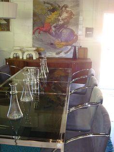 Cocktails anyone?  Milo Baughman Chrome & Glass Table