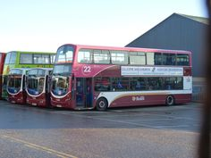 https://flic.kr/p/QCedvv | Lothian Volvo B9TL Wright Eclipse Gemini 2 331 SN59BFM waiting removal of route branding. Beside are Volvo B7RLE Wright Eclipse Urban 118 SN04NHJ and 119 SN04NHK at Seafield Garage on 27 December 2016 presumably awaiting sale. | Beyond the two B7RLE's are Dennis Trident Plaxton President former part open topped tour bus 529 V529ESC awaiting sale.