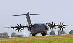 "Airbus Military 400M Atlas strategic transport.Called ""Grizzly"" by French pilots & crew because of the engine growl."
