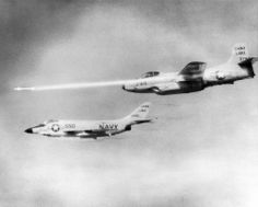 Douglas F3D-2 Skyknight - Escorting plane is a McDonnell F3H-2N Demon