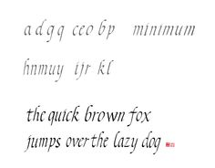 alphabet Calligraphy_the quick brown fox jumps over the lazy dog
