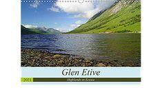Glen Etive Highlands en Écosse (Calendrier mural 2021 DIN A3 horizontal) Glen Etive, Highlands, A3, Mountains, Nature, Travel, Monthly Calender, Stationery Set, Naturaleza