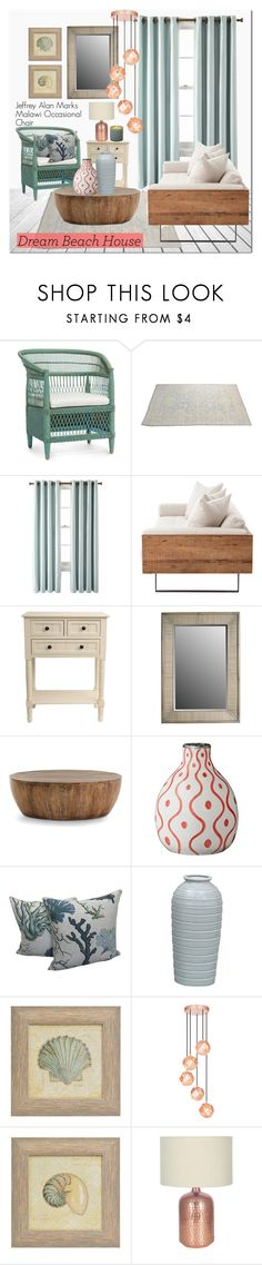 """Beach House"" by kristennevanss ❤ liked on Polyvore featuring interior, interiors, interior design, home, home decor, interior decorating, Royal Velvet, J. Hunt, Arteriors and Tom Dixon"