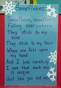 snowflakes poem - Re-pinned by @PediaStaff – Please Visit http://ht.ly/63sNt for all our pediatric therapy pins