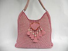 """Crochet bag PDF pattern """"Colores de rosas"""" tunisian crochet"""